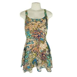 Lucca Couture Floral Fit & Flare Mini Dress XS